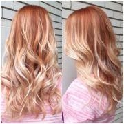 strawberry blonde ombr. hair