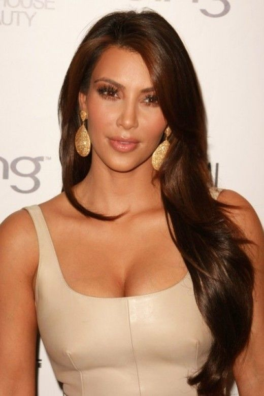 Celebrities with Chocolate Brown Hair Color  Brown hair colors Kim kardashian and Chocolate brown