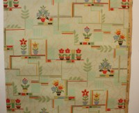1930's Vintage Wallpaper green and red Kitchen design eBay ...