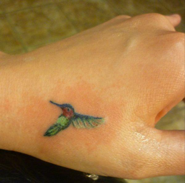 small hummingbird tattoo projects