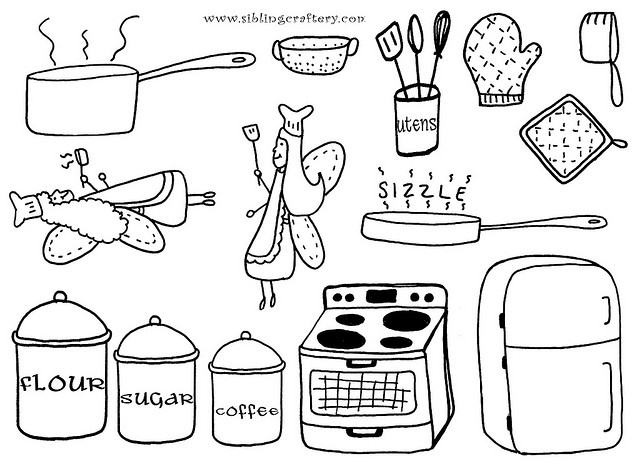 17+ images about Food, Drink and Cooking Coloring Pages on