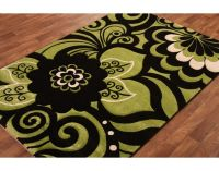 lime green kitchen rugs | Hand Carved Lime Green Black ...