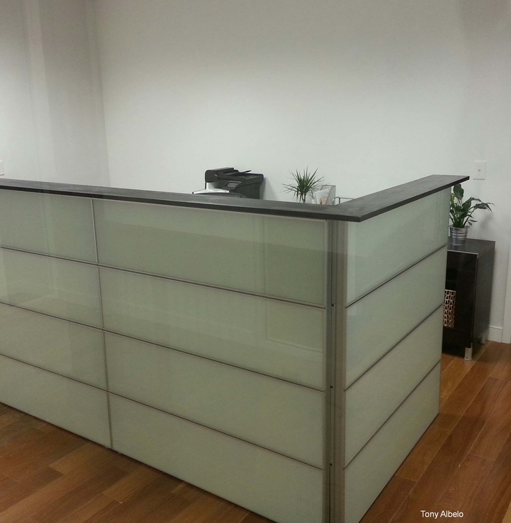 IKEA Hack  Converted 12 Framsta panels into reception