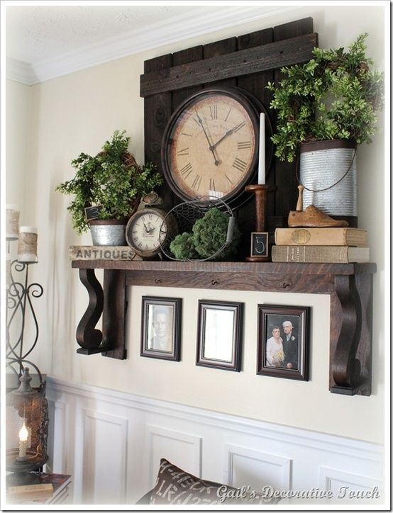 Primitive and rustic decor! by Jeri I like this … For above the cupboards #decoratingideas