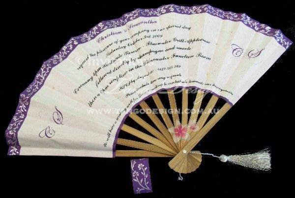 Unique invitation idea Handmade fan invitations with