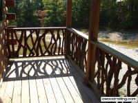 Deck Railing Designs | Log Home Handrail | Best Rustic ...