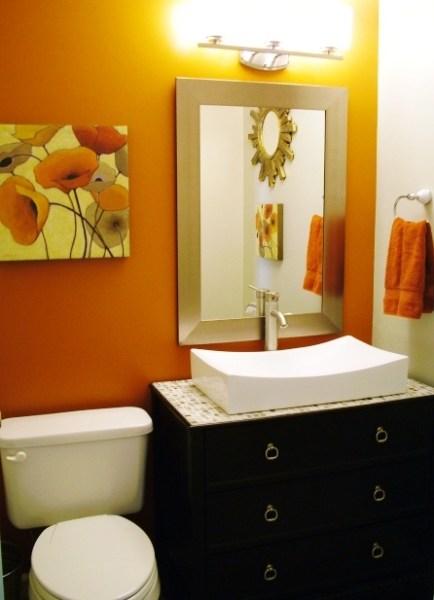 light orange color bathroom Best 25+ Burnt Orange Bathrooms ideas on Pinterest