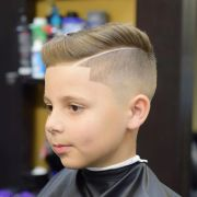side part with line- haircuts