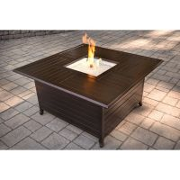 Garden Treasures 42,000 BTU Liquid Propane Fire Pit Table ...