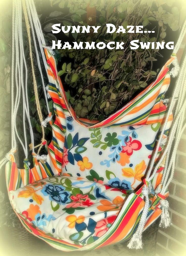 Finally, a DIY hammock swing tutorial! Because the hammock swings I like (Magnol