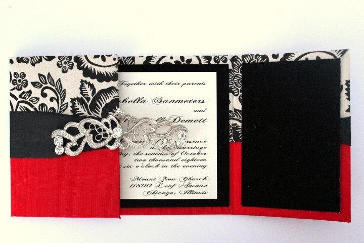 Wedding Invitations Old Hollywood GLAM 1950 via Etsy  Vintage50s board  Pinterest