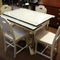 Retro Kitchen Table And Chairs Set Crosley Alexandria Island 9 Best Images About Enamel Tables On Pinterest | Dining ...