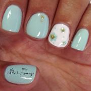 spring bloom gel nail art design