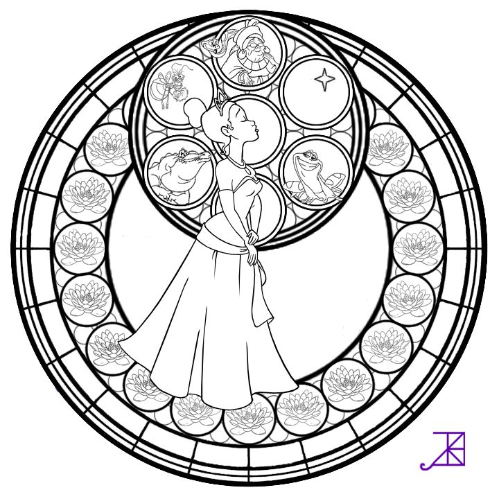 Stained Glass Ichthus Sketch Coloring Page
