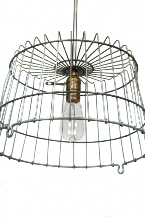 25+ best ideas about Wire basket chandelier on Pinterest