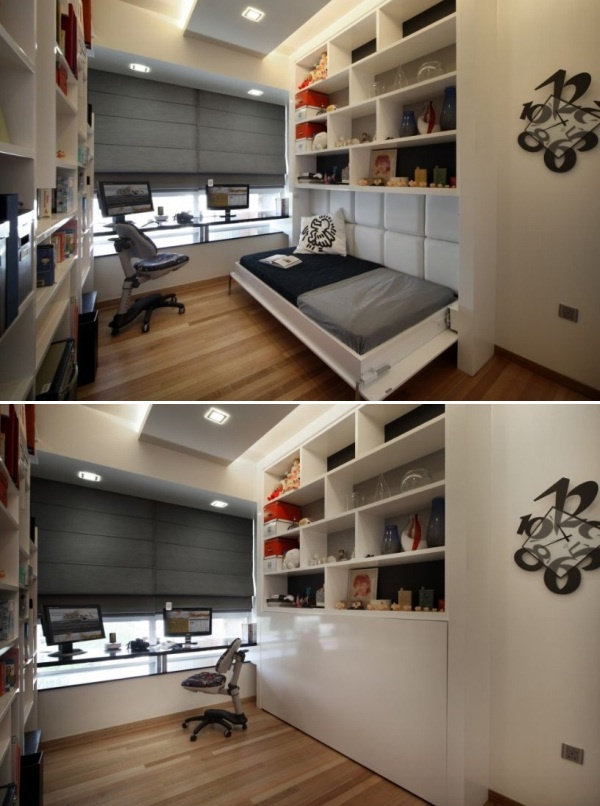 spare room ideas easy storage space study Makes room when