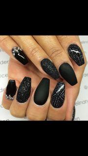 1000 ideas matte black nails