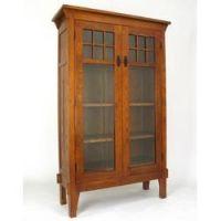 Tall mission style curio cabinet.: Stickley Craftsmen Arts ...
