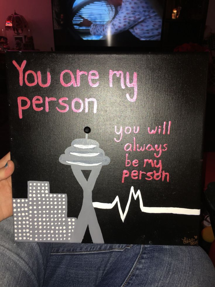 Greys Anatomy Canvas That I Made For My Best Friend If You