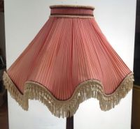 VINTAGE CHIFFON pleated FRENCH STYLE LAMPSHADE LAMP SHADE ...