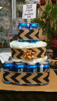 Baby shower father beer diaper cake gift for dad | DIY ...