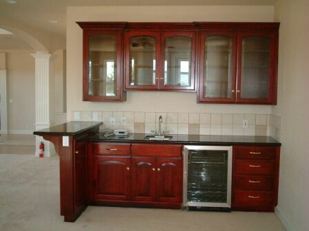stainless steel kitchen carts remodel kansas city wet bar: small fridge & microwave, no sink or top cabinets ...
