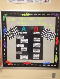 Behavior Bulletin Board - racing theme | Future Teacher of ...