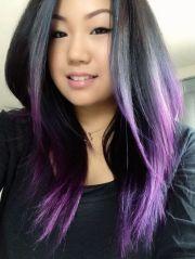 purple ombre hair beauty
