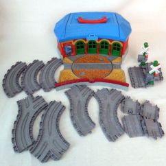 Little Tikes Table And Chairs Set Toys R Us Sling Hanging Swing Chair Thomas The Train Take Along Tidmouth Sheds Roundhouse Turntable 13 Tracks | My Friends Ebay ...
