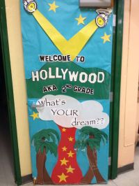 Hollywood themed classroom door | Door decor | Pinterest ...