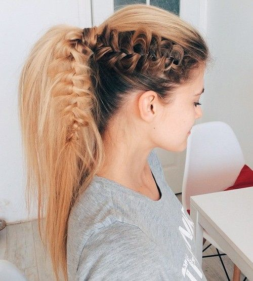 25 Best Ideas About Ponytail With Braid On Pinterest Teased