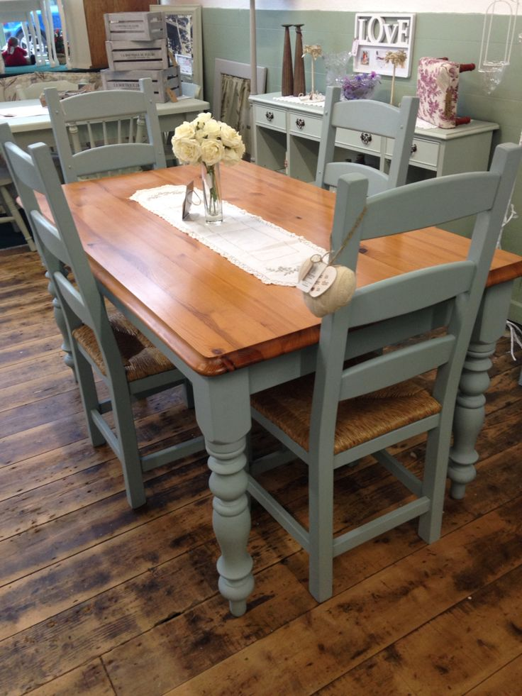 17+ best ideas about Painted Kitchen Tables on Pinterest