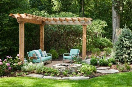 Corner Pergola Add Removable Hammock Garden Design