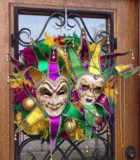 Mardi Gras Wreath, Door Decorations , Mardi Gras, Fat ...