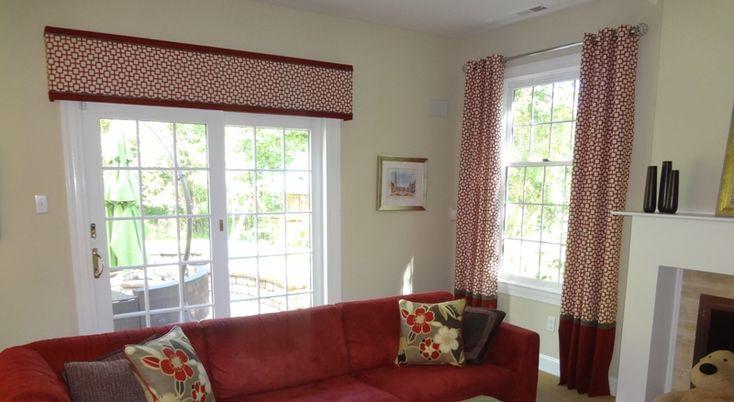 Straight Cornice Board with Modern Fabric  HOME  Kitchen