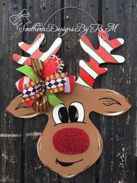 25+ best ideas about Christmas door hangers on Pinterest