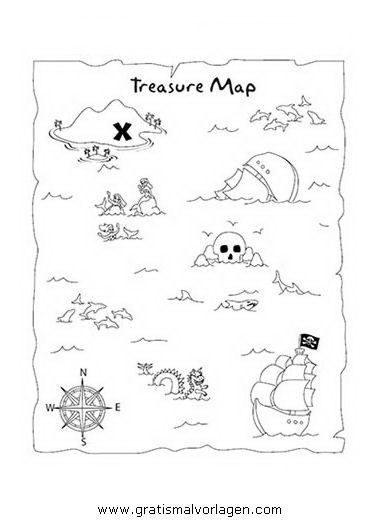Treasure maps, Templates free and Templates on Pinterest
