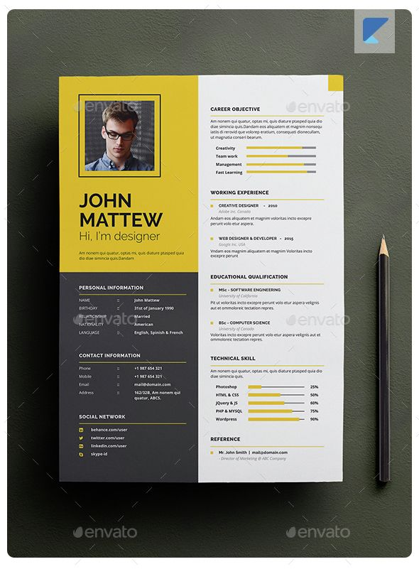 indesign resume ideas