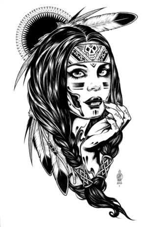 native coloring american indian pages drawings drawing woman adult dope animal simple adults hipster india pretty americans land tiger