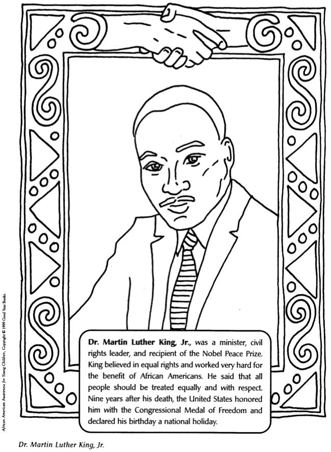Printable Martin Luther King Book