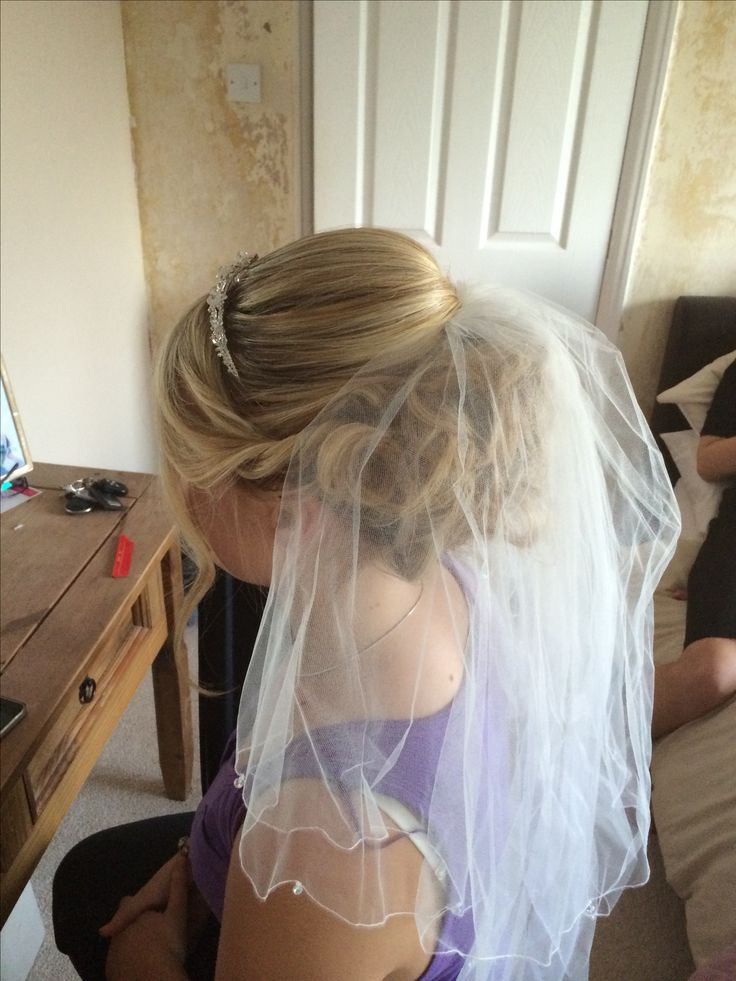 Wedding Updo With Veil With A Hair Comb Instead Of A