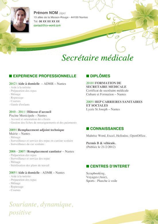 modele cv secretariat gratuit