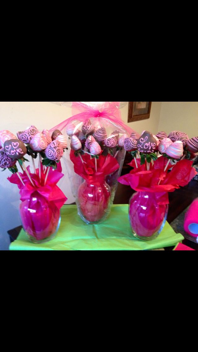 Chocolate Covered Strawberry Rose Bouquet Chocolate