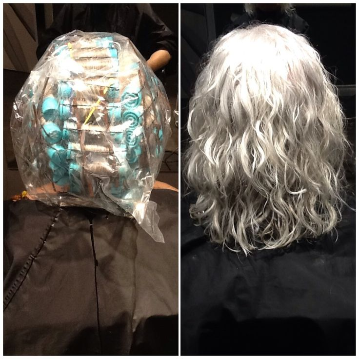 Hair By Kendra Pin Straight Hair To Permanent Curls With