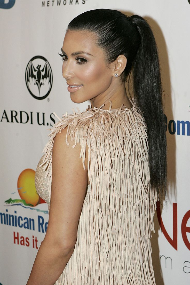 25 Best Ideas About Kim Kardashian Ponytail On Pinterest High