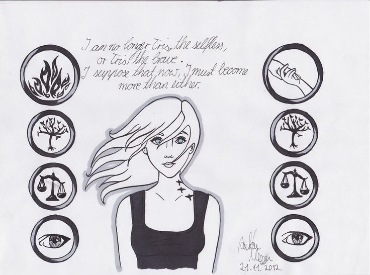 Veronica Roth Divergent Trilogy Sketch Coloring Page