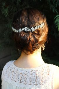 Wedding Hair Chain, Bridal Hair Chain, Wedding Hair Wrap ...