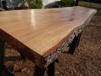 Live Edge Cherry Solid Hardwood Wood Slab Natural Table ...