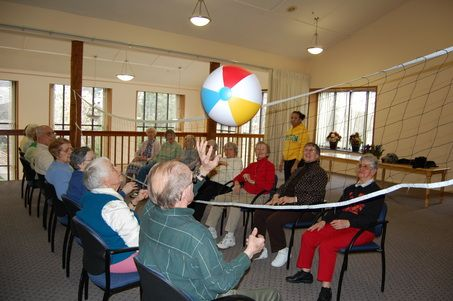 workout ball chair posture office stool beach volleyball a hit with senior citizens | fun activities to do, summer and beaches