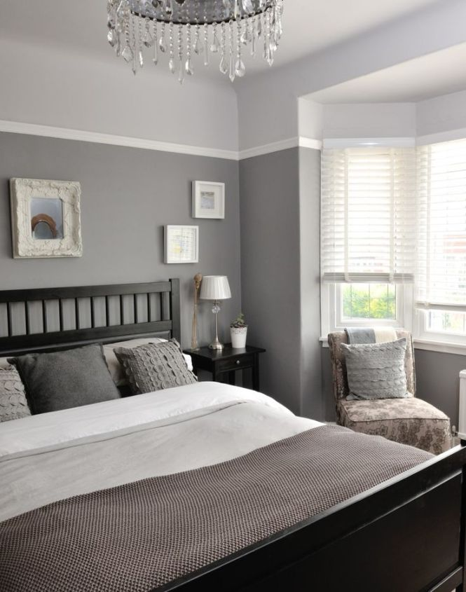 Diffe Tones Of Grey Give This Bedroom A Unique And Interesting Look Continue Colour Colourswall Colorsgrey